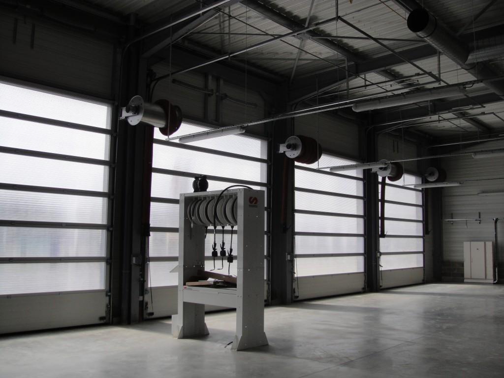 Portes sectionnelles vitrées