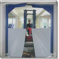 Porte souple deux vantaux